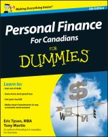 Personal Finance for Canadians for Dummies