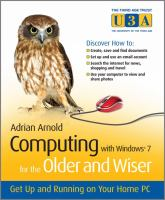 Computing With Windows® 7 For The Older And Wiser