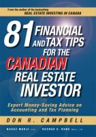 81 Financial and Tax Tips for the Canadian Real Estate Investor