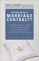 Do We Need A Marriage Contract?