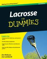 Lacrosse for Dummies / by Jim Hinkson and Joe Lombardi