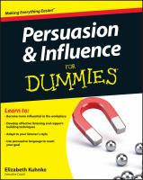 Persuasion & Influence for Dummies