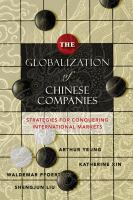 The Globalization of Chinese Companies