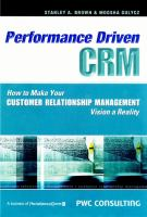 Performance-driven CRM