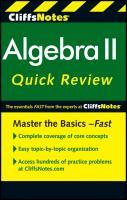 Algebra II Quick Review
