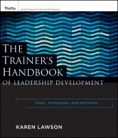 The Trainer's Handbook of Leadership Development