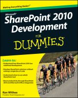 SharePoint 2010 Development for Dummies