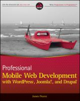 Professional Mobile Web Development With WordPress, Joomla!, and Drupal