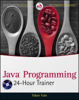 Java Programming 24-hour Trainer