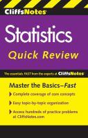 Cliffsnotes Statistics