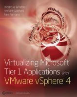 Virtualizing Microsoft Tier 1 Applications With VMware VSphere 4