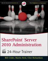 SharePoint Server 2010 Administration