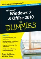 Windows 7 & Office 2010 for Dummies
