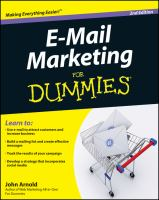 E-mail Marketing for Dummies, 2nd Edition