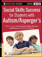 Social Skills Success for Students With Autism/Asperger's
