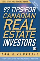 97 Tips for the Canadian Real Estate Investor