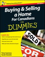 Buying & Selling A Home for Canadians for Dummies