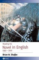 Reading the Novel in English, 1950-2000 (Reading the Novel)