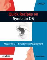 Quick Recipes on Symbian OS