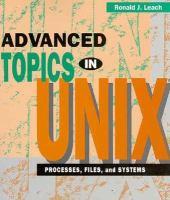 Advanced Topics In UNIX