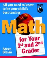 Math for your First-and Second-grader