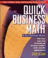 Quick Business Math
