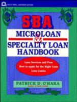SBA Microloan and Specialty Loan Handbook