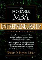 The Portable MBA in Entrepreneurship