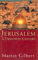 Jerusalem in the Twentieth Century