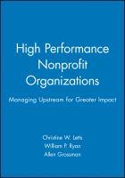 High Performance Nonprofit Organizations