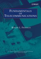 Fundamentals of Telecommunications (Wiley Series in Telecommunications and Signal Processing)