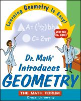 Dr. Math Gets You Ready for Geometry