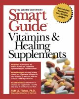 Smart Guide to Vitamins and Healing Supplements