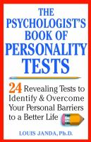 The Psychologist's Book of Personality Tests