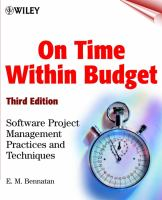 On Time Within Budget