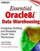 Essential Oracle8i Data Warehousing