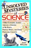 Unsolved Mysteries of Science