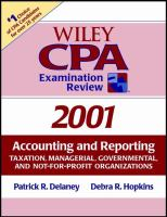 CPA Examination Review, 2001