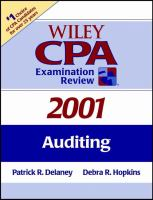Wiley CPA Examination Review, 2001