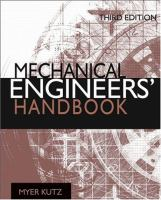 Mechanical Engineers' Handbook