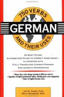 750 German Verbs and Their Uses