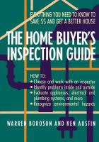 The Home Buyer's Inspection Guide