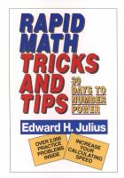 Rapid Math Tricks and Tips