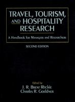 Travel, Tourism, and Hospitality Research