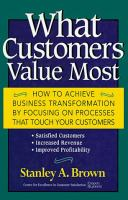 What Customers Value Most