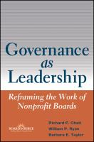 Governance as Leadership