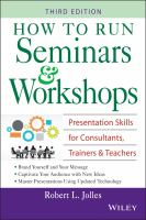 How to Run Seminars and Workshops