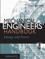 Mechanical Engineers' Handbook