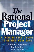 The Rational Project Manager