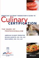 American Culinary Federation's Guide to Culinary Certification